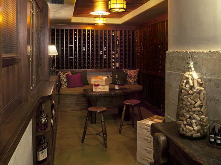 美国红橡木酒架
